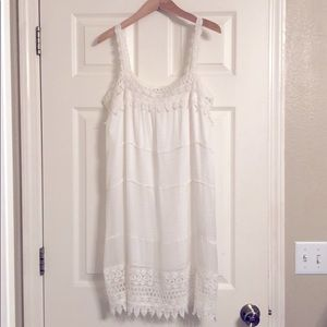 Gold Hawk White Silk Dress/ and or Nighty